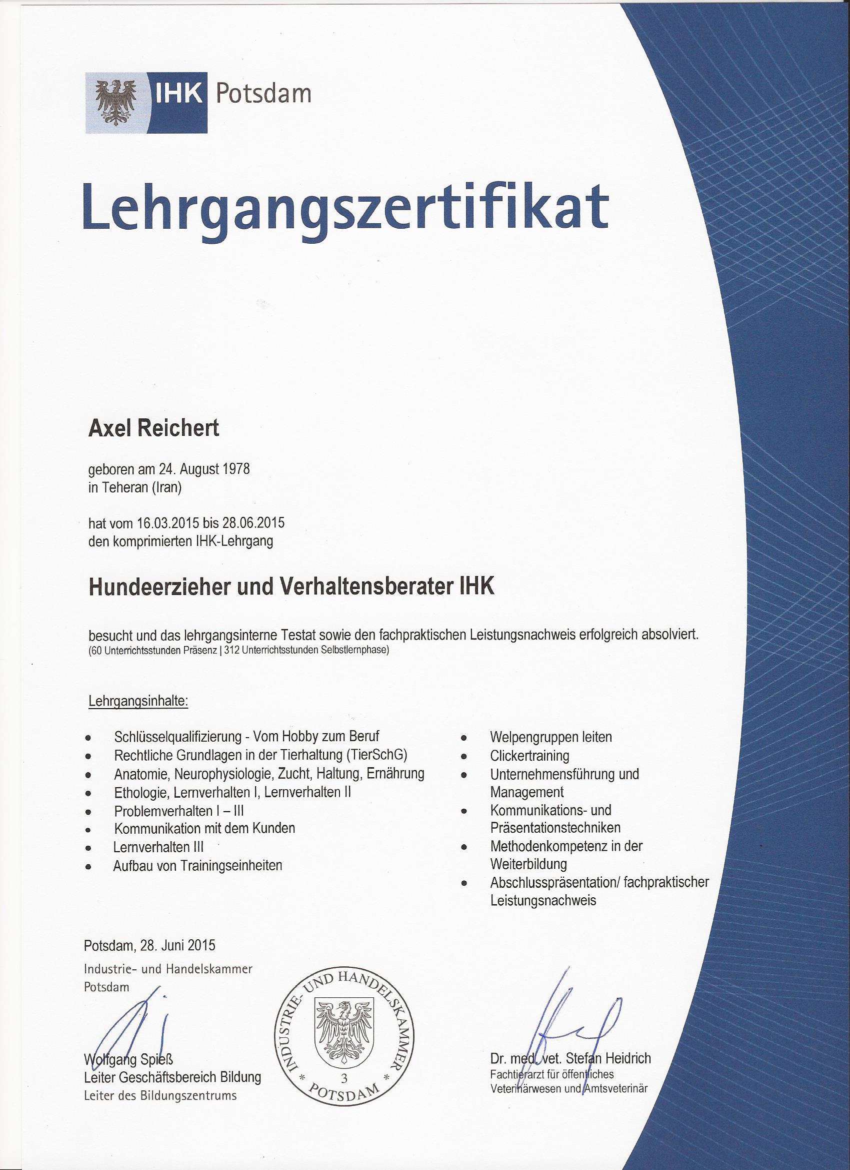 IHK-Zertifikat